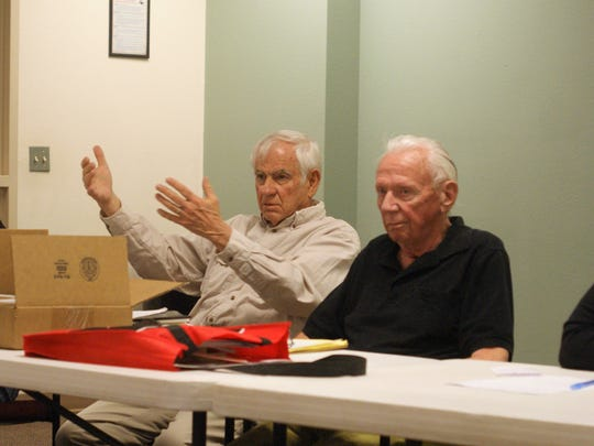 From left, Care Academy founders Don Heacox and T.