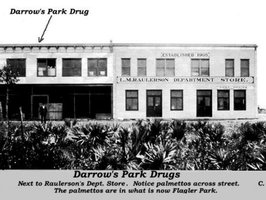 Darrow's Park Drugs in Okeechobee in 1915.