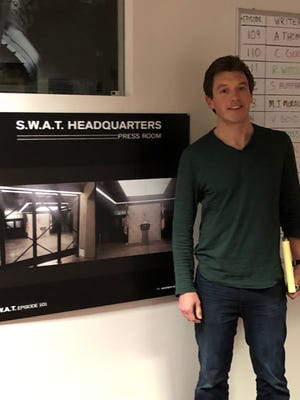 """Days in the writers' room for """"S.W.A.T."""" often run 12 hours long for Kent Rotherham and the 10 to 12 other writers  who share ideas for the storylines of the CBS drama."""