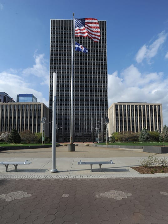 Indianapolis City County Building Plaza