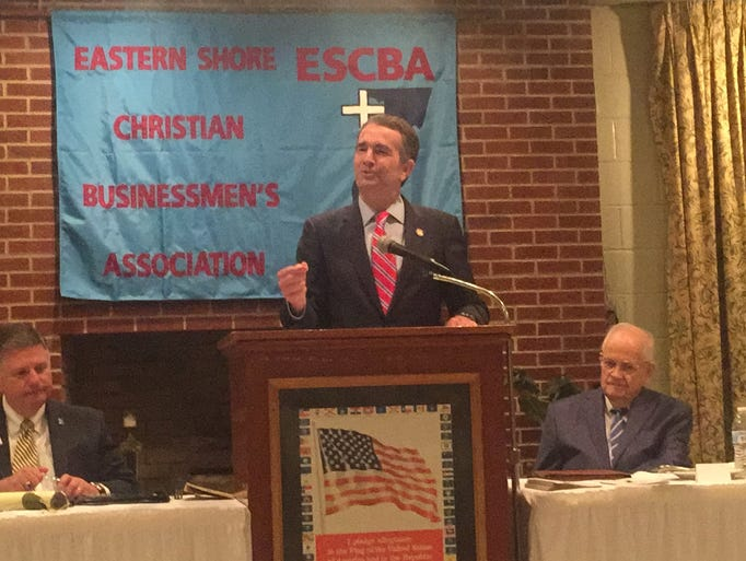 Gov. Ralph Northam speaks  during the 27th annual prayer
