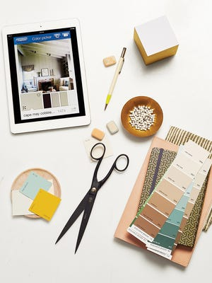 Paint It: Take a photo, then touch anywhere on the screen to find a matching Benjamin Moore paint.