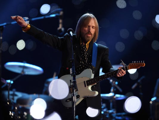 Musician Tom Petty performs during halft