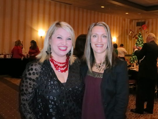 Molly Kidd (left) and Lori Meadows, both of Redding,