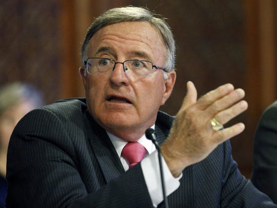 Sen. John DeFrancisco, R-Syracuse, speaks during a