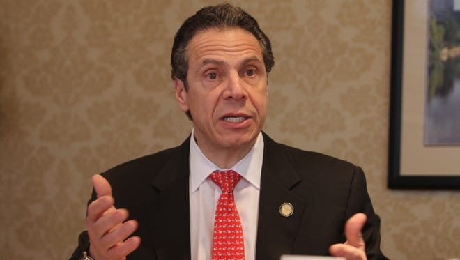Gov. Andrew Cuomo talks to the Democrat and Chronicle Editorial Board on April 10.