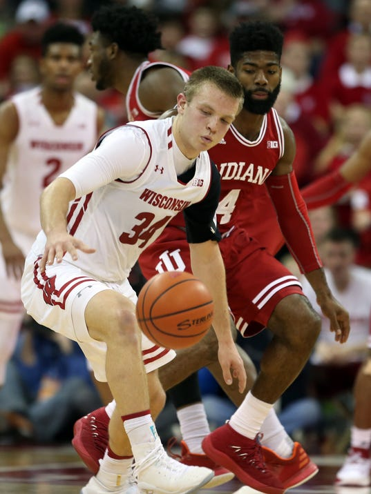 NCAA Basketball: Indiana at Wisconsin