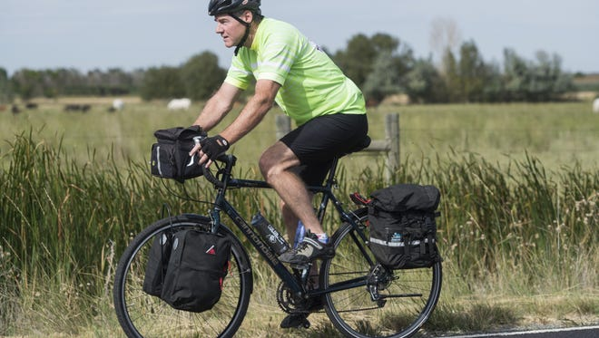 John Mulcare of Fort Collins completed a cross-country ride on his bicycle that he began in 2005 to honor his brother who died by suicide. Mulcare raised more than $5,000 for the Alliance for Suicide Prevention.