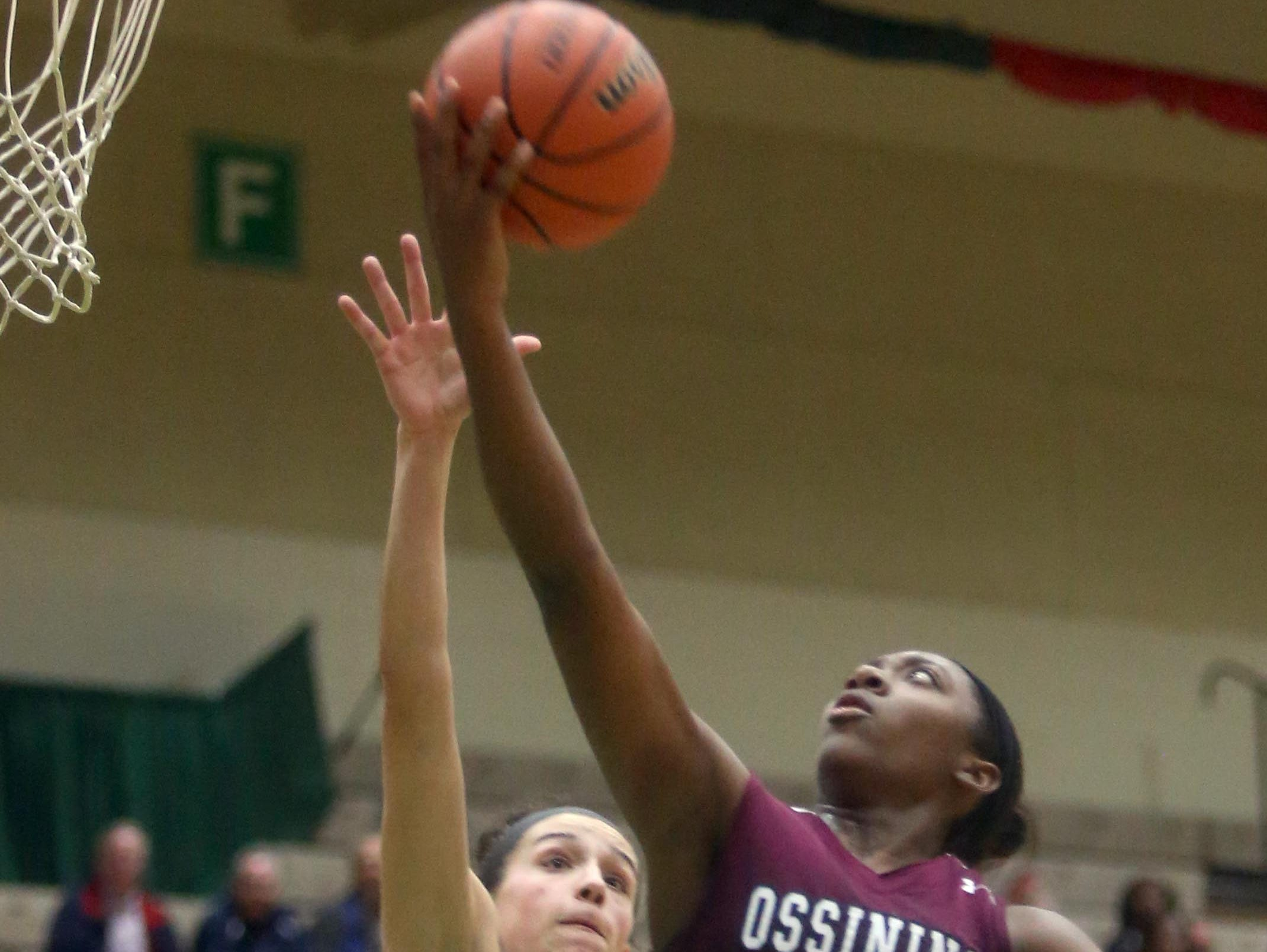 Ossining's Shadeen Samuels led all scorers with 32 points as Ossining defeated Cormack 72-55 in a New York State Class AA semifinal game at Hudson Valley Community College in Troy March 11, 2016.