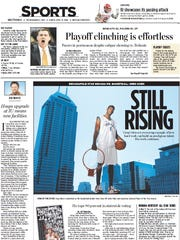 IndyStar Mr. Basketball front on Greg Oden