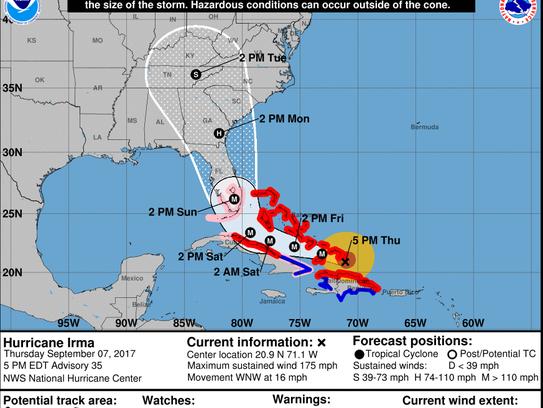 National Hurricane Center 5 p.m., Sept 7 update on