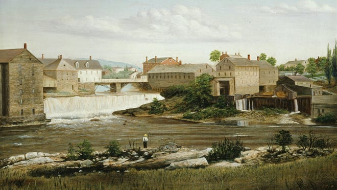 Middlebury Falls, circa 1850-1859. James Hope. Oil on canvas.