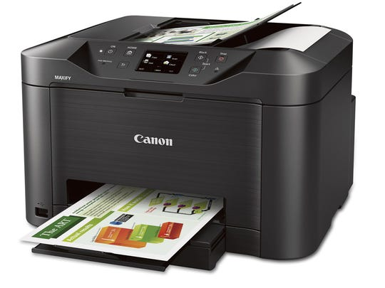The Canon Maxify is a Wi-Fi enabled printer, scanner,
