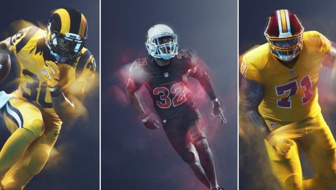 NFL Color Rush uniforms will be back in 2017.