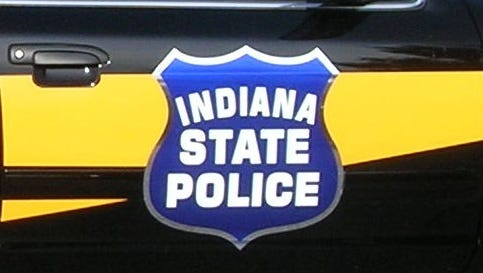 Indiana State Police door decal.