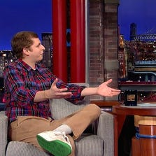 Michael Cera chats with David Letterman.