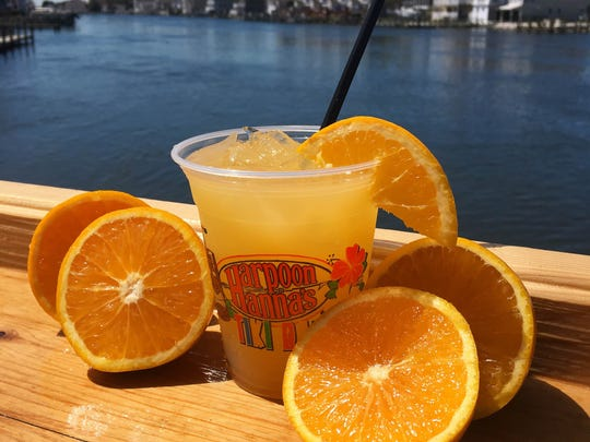 Orange Crush drink offered at Harpoon Hanna's in Fenwick