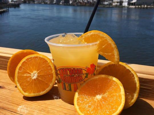 Orange Crush drink offered at Harpoon Hanna's in Fenwick Island.