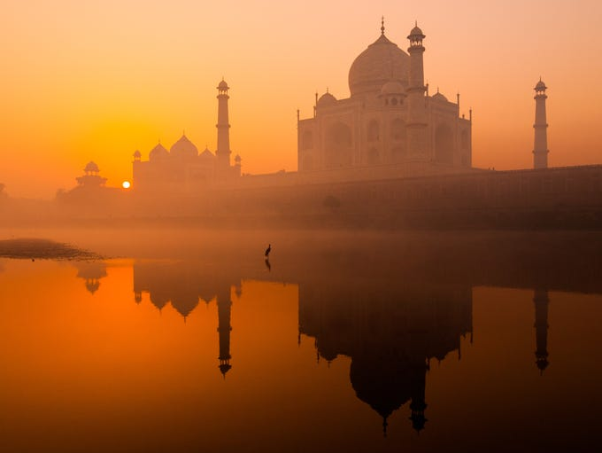 India: The Taj Mahal attracts thousands of travelers