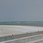 Matanzas Inlet near where a 9-year-old was rescued from the surf.