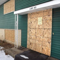 Four duplexes along Veterans Drive have been boarded.