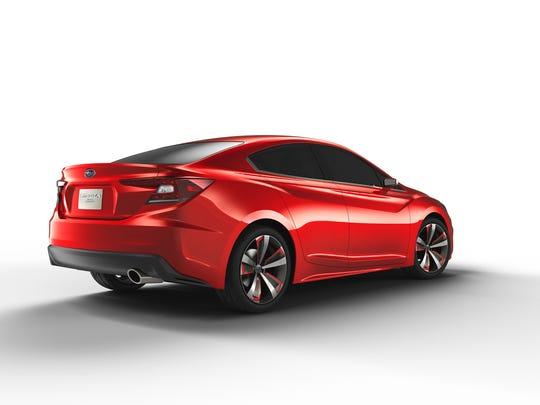 Subaru Impreza concept shown at 2015 LA auto show