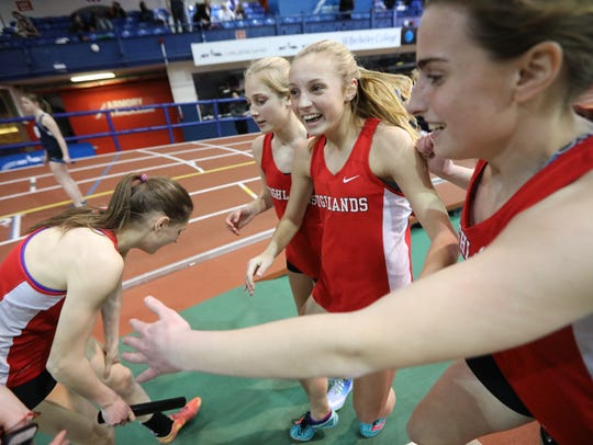 Kyla Krawczyk (center standing) and the rest of the