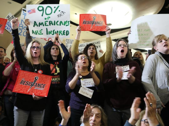 Hundreds of people gathered at the Robert Treat Hotel Ballroom in Newark on Jan. 15 to rally in support of the Affordable Care Act.