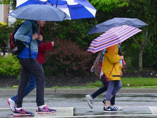 The next couple of days will resemble this rainy day in May on East Ridgewood Avenue in Ridgewood.