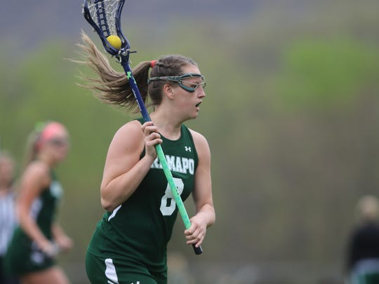 Danielle Van Calcar set numerous scoring records for the Ramapo girls lacrosse team before going on to Colgate.