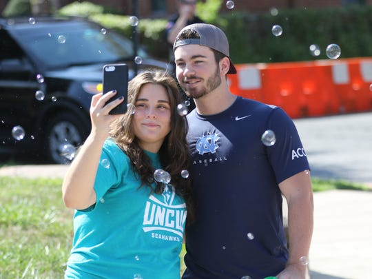 Hannah Brudnicki, 23, of Jersey City, and her boyfriend,
