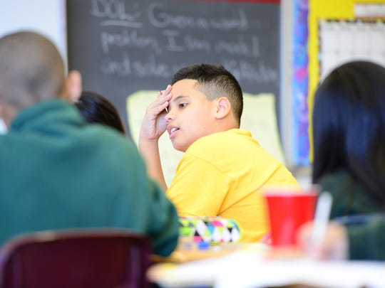 Andrew Ramos, fourth-grader at the Paterson Academy for the Gifted and Talented at Public School No. 28.