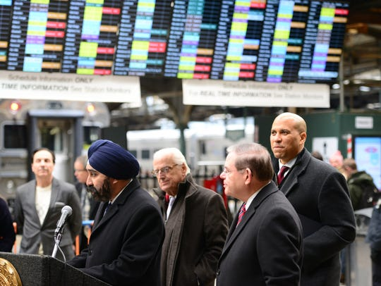 From Left, Hoboken Mayor Ravi Bhalla, U.S. Representative