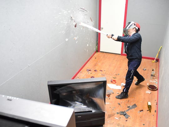 Jeff Sherfer, owner of Rage Room, in Hackensack on Wednesday March 28, 2018.
