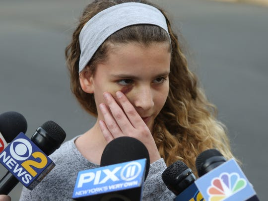 Tiana Holeviczki, 11, was one of the the fifth grade students on the bus that was involved in Thursday's crash.
