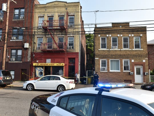 A fire at a building on Monroe St in Passaic on Tuesday