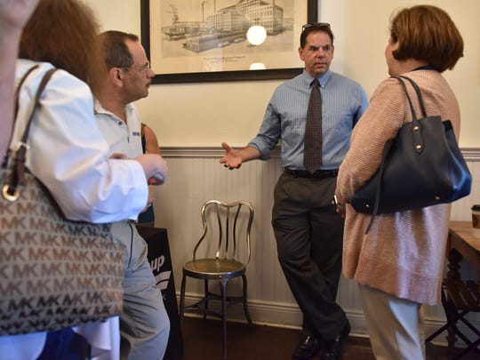 Dan Sforza, news director for North Jersey Media Group, held a meet and greet with the public at American Bulldog Coffee Roasters in Ridgewood on Tuesday morning July 10, 2018.