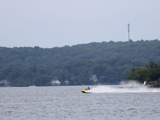 Motorized vehicles are considered one of the environmental dangers to Lake Hopatcong. Monday, July 16, 2018