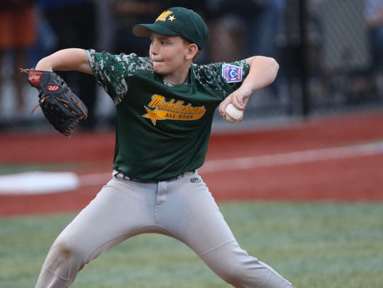 Reid Tully, of Middletown, pitched a brilliant game