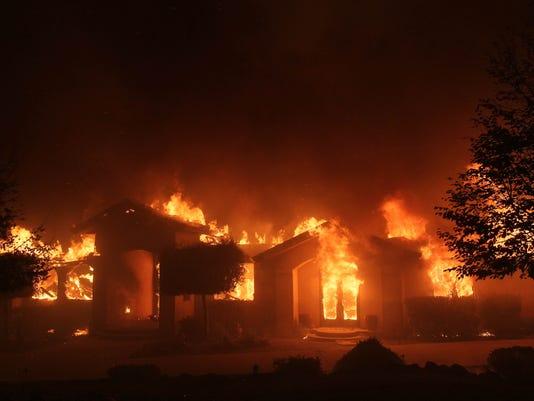 Camp Fire destroys building