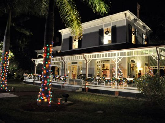 Lights adorn the Thomas A. and Mina Edison home in Fort Myers. Holiday Lights at the Edison & Ford Winter Estates continues through   Jan. 3