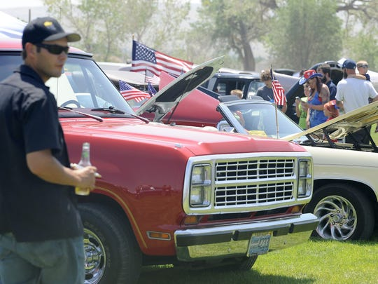 Dozens of cars were on display during the show n' shine.