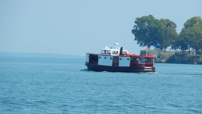 The Sonny-S ferry takes passengers from Put-in-Bay to Middle Bass Island.