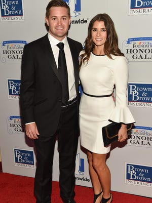 NASCAR drivers Ricky Stenhouse Jr. and Danica Patrick at the NASCAR Foundation's inaugural honors gala in New York.