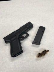 Confiscated handgun