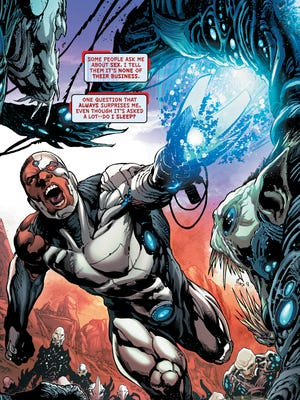 "Victor Stone faces new cybernetic enemies in the pages of his solo series ""Cyborg."""