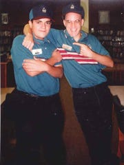 FLORIDA TODAY's Tim Walters, right, and Viera Pizza owner Mike Acosta, circa Fall of 1994 in their Arby's unifroms. The duo got their start at the Arby's in Rockledge on U.S. 1.