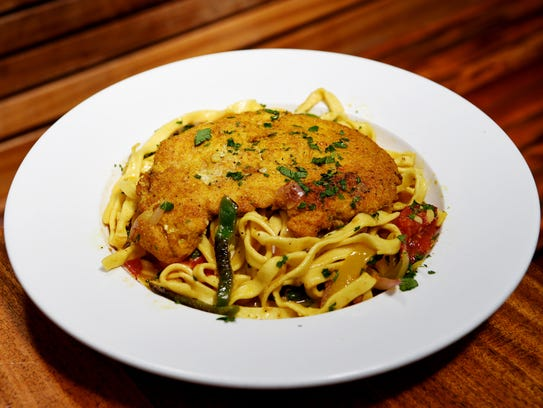 West First's Moroccan chicken and pasta with white