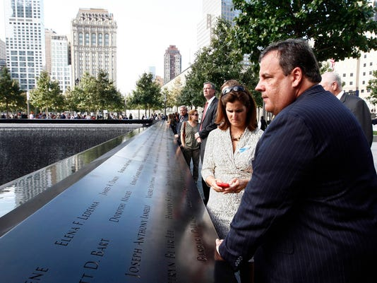 Gov. Chris Christie, First Lady Mary Pat Christie and family attends the September 11 anniversary ceremonies in 2011 in New York. (Governor's Office/Tim Larsen)