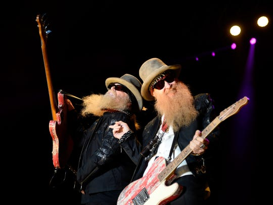Dusty Hill, left, and Billy Gibbons of ZZ Top.